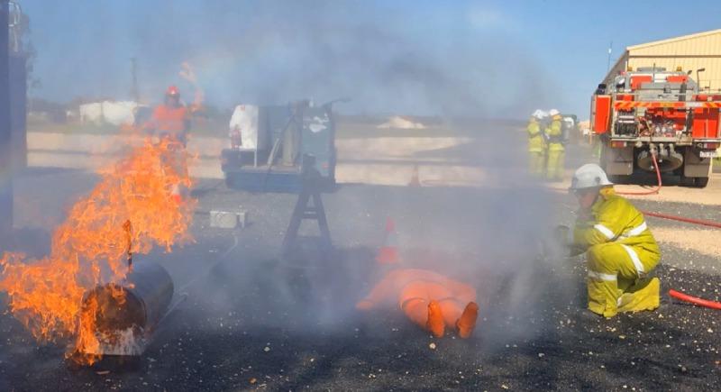 live fire training in progress
